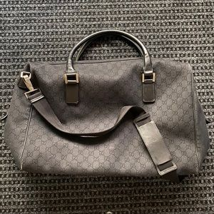 Gucci Bags - Gucci Black GG Weekender Travel Bag